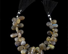 Genuine 201.20 Cts Blue Labradorite Beads Strand