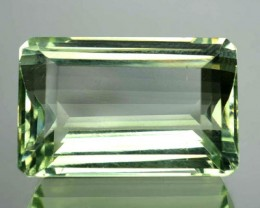 17.62 Cts Natural Green Amethyst/Prasiolite Octagon Cut Brazil Gem NR