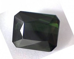 3.1ct Emerald Cut Rich Dark Jungle Green Tourmaline VVS A420