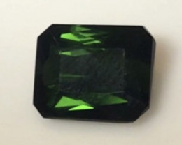 3.1ct Emerald Cut Dark Green Tourmaline -  A420 H656