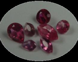 Rare Sri Lanka Rubies, 100% Natural, 7 pieces, No heat, No treat