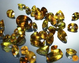 Rainbow Sparkle 50 ct Titanite Sphene LOT World Class Luster