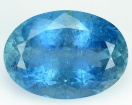 14.14 Cts Natural Deep Blue Aquamarine Oval Faceted Santa Maria Gem