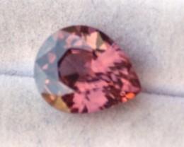 4.57 Carat Pear Cut Fantastic Pink Zircon