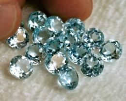 40.45 Tcw. Blue Brazil Topaz Gems - 16 pcs.