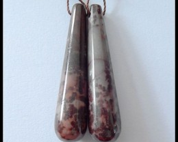 42.7 ct Natural Chohua Jasper Earring Beads