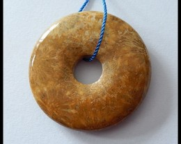 46ct Natural Coral Fossil Pendant Bead