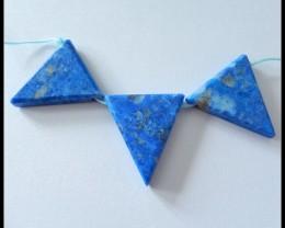 3PCS Natural Lapis Lazuli Gemstone Beads Necklace Beads