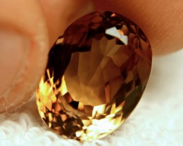 17.75 Carat VVS1 Golden Brown Topaz