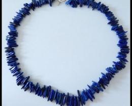 197Ct Natural Lapis Lazuli Chip Beads Strands Lapis Necklace