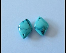 4 Ct Natural Turquoise Gemstone Beads Double Side Drilled
