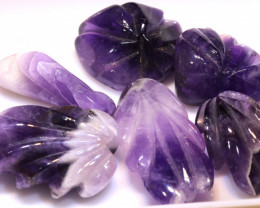 165CTS AMETHYST CARVINGS 3 STONES LT-372