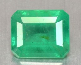 1.09 Cts Natural Green Emerald Octagon Cut Brazil Gem