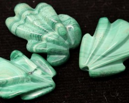 54.70 CTS AMAZONITE CARVINGS 3 STONES LT-427
