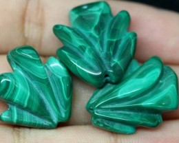 63.45 CTS AMAZONITE CARVINGS 3 STONES LT-429