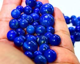 507 CT Natural lapis lazuli carved beeds lot