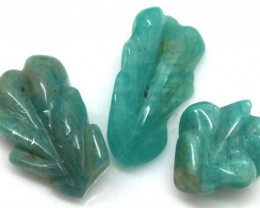 15.70 CTS AMAZONITE CARVINGS 3 STONES LT-508