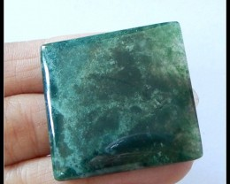 64.5ct Natural Moss Agate Gemstone Cabochon,Grass