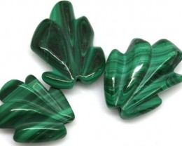 47.85 CTS MALACHITE CARVINGS 3 STONES LT-542