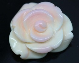 19.55 CTS CONCH SHELL FLOWER DRILLED LT-555