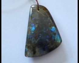 70.5 ct Natural Labradorite Gemstone Pendant Bead