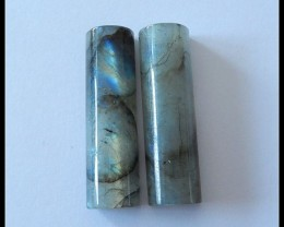 80.5Ct Natural Labradorite Gemstone Cabochon Pair