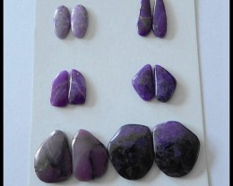6 Pairs Natural Sugilite Gemstone Cabochons,36 Ct