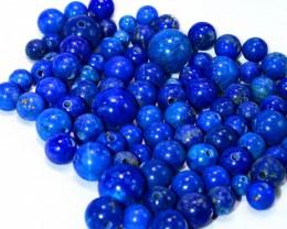516.25CT Natural lapis lazuli carved beeds lot