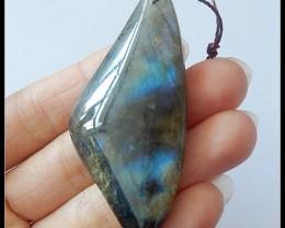 91.5ct Natural Labradorite Gemstone Pendant Bead