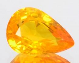 1.92 Cts Natural Orangesh Yellow Sapphire Pear Cut  Gem