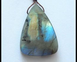 36Ct Natural Labradorite Gemstone Pendant Bead