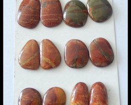 6 Pairs Multi Color Picasso Jasper Cabochons Pairs,162.5ct