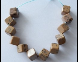 110Ct Chohua Jasper Cube Beads Cluster Necklace Beads Strands,9 MM