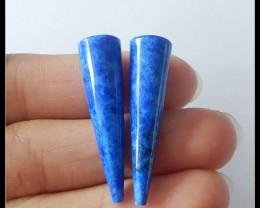 32ct Natural Lapis Lazuli Pair