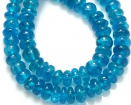 175.90 CTS NATURAL STRANDS APATITE POLISHED BEADS TBG-2201