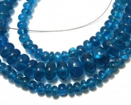 136.35 CTS NATURAL STRANDS APATITE POLISHED BEADS TBG-2202
