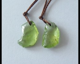 6.8Ct Natural Peridot Earring Beads(B1804400)