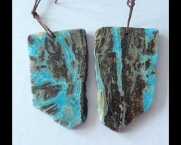85ct Natural Hemimorphite Earring Beads ,Natural Shape