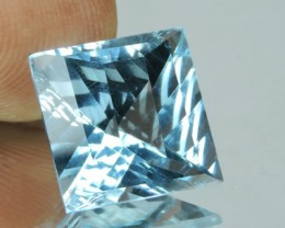 private auction 8.85 CTS DELUXE FANCY CUSHION CUT BLUE TOPAZ POPULARGEMS