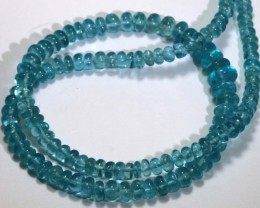 115 CTS NATURAL STRANDS APATITE POLISHED BEADS TBG-2219