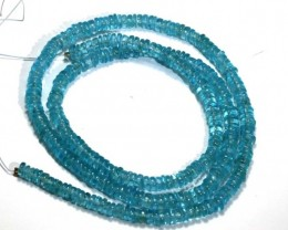 88.60 CTS NATURAL STRANDS APATITE POLISHED BEADS TBG-2224