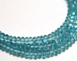 52 CTS NATURAL STRANDS APATITE POLISHED BEADS TBG-2225