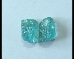 2 PCS Natural Dioptase Gemstone,12.5ct
