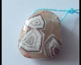 27.5ct Natural Crazy Lace Agate Pendant Bead