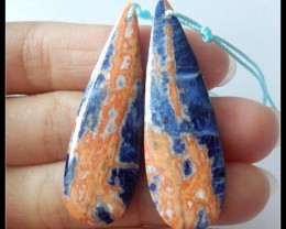 42 Ct Natural African Sodalite Earring Beads