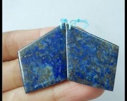 49Ct Natural Lapis Lazuli Gemstone Earring Beads