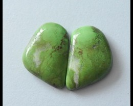 33.5 ct Hot Sale Natural Gaspite Gemstone Cabochon Pair(C0063)