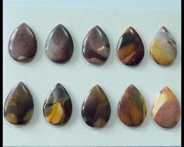 10 PCS Natural Mookaite Jasper Cabochons,88 ct