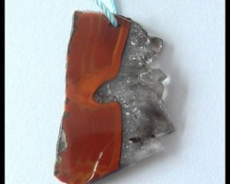 13.5Ct Natural Zhangguo Red Agate Pendant Bead
