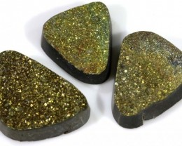 39.35 CTS PYRITE NATURAL PARCEL (3PCS) TBG-2249